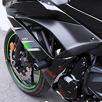 Shogun Kawasaki Ninja 650 Z650 Z 650 EX650 EX 2020 2020 2020 2020 Black No Cut Frame Sliders Fits ABS: Automotive