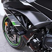 Black Cuque 2 Pcs Motorcycle Sliders Motorbike Modification 2 1.97 0.6 inch Carbon Fiber Front Fork Frame Sliders Kit Wheel Frame Crash Protection