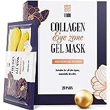 Under Eye Patches - 24K Gold Under Eye Mask Anti-Aging Hyaluronic Acid Collagen Under Eye Pads Reducing Dark Circles…