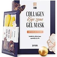 Under Eye Patches - 24K Gold Under Eye Mask Anti-Aging Hyaluronic Acid Collagen Under Eye Pads Reducing Dark Circles & Wrinkles Treatment Gel Bags