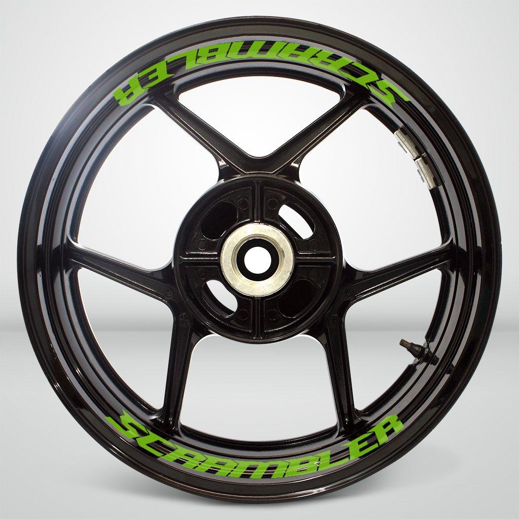 R/éfl/échissant Jaune Autocollant de Jante de Moto Inner Rim Tape pour Ducati Scrambler