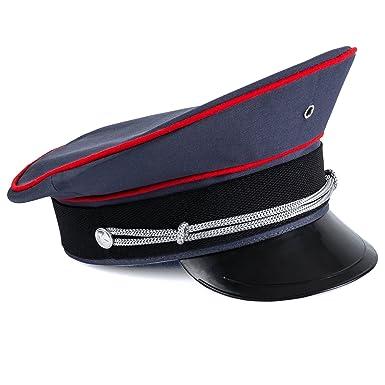 faa7220cc70987 Amazon.com: Tigerdoe Captain Hat – Officer Hat, Peaked Hat, Military Cap –  Dress Up Hats: Clothing