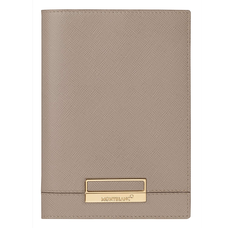 Montblanc 114614 Sartorial Taupe Leather Passport Holder