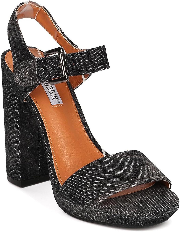 denim open toe heels