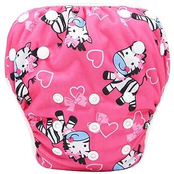 Pañales bañadores ❤️ Amlaiworld Pañal Bañador Bebé recién Nacido niño niña Lindo patrón Trajes de baño Natación Troncos Pantalones ...