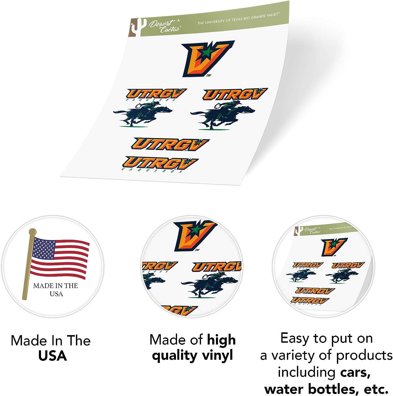 Type 2 Sheet The University of Texas Rio Grande Valley UTRGV Vaqueros NCAA Sticker Vinyl Decal Laptop Water Bottle Car Scrapbook