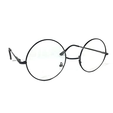 e4846d30d86ec Image Unavailable. Image not available for. Colour  EYTYS   NYNTIES Round  Frame Clear Lens Vintage Circle John Lennon Style ...