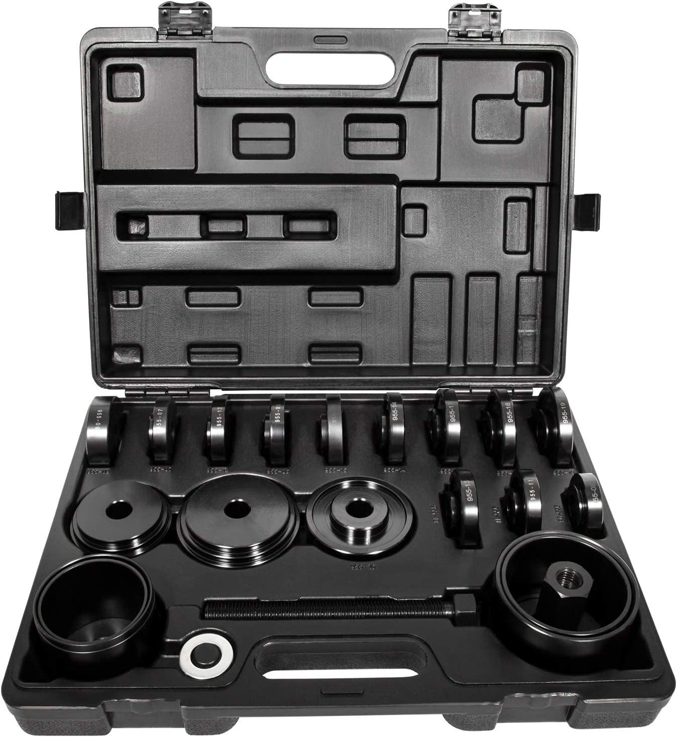 Sunluway 23 PCS FWD Front Wheel Drive Bearing Adapters Puller Press Replacement Installer Removal Tool Kit with Black Case