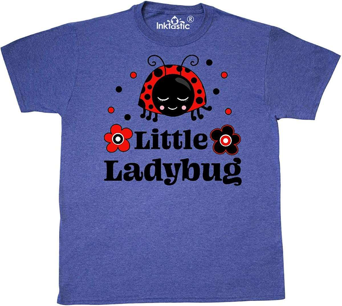 inktastic Little Ladybug with Flowers T-Shirt