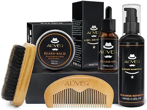 Kit de cuidado de la barba para el cuidado de los hombres,lavado ...
