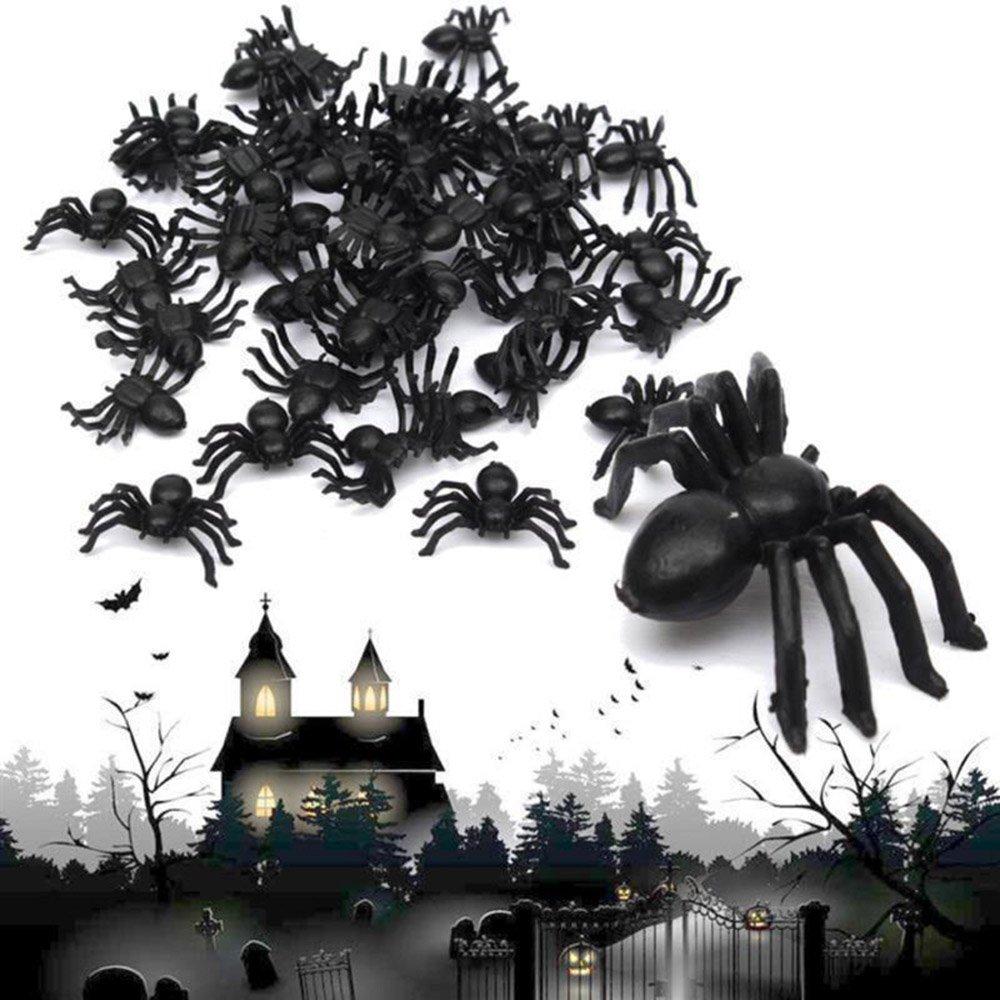 MAXGOODS 100Pcs Cucarachas Falsas Juguete de Truco Broma Divertida Juguetes Especiales Modelo Realista Simulación de Halloween Tamaño 7cm x 2 cm x 0.7cm