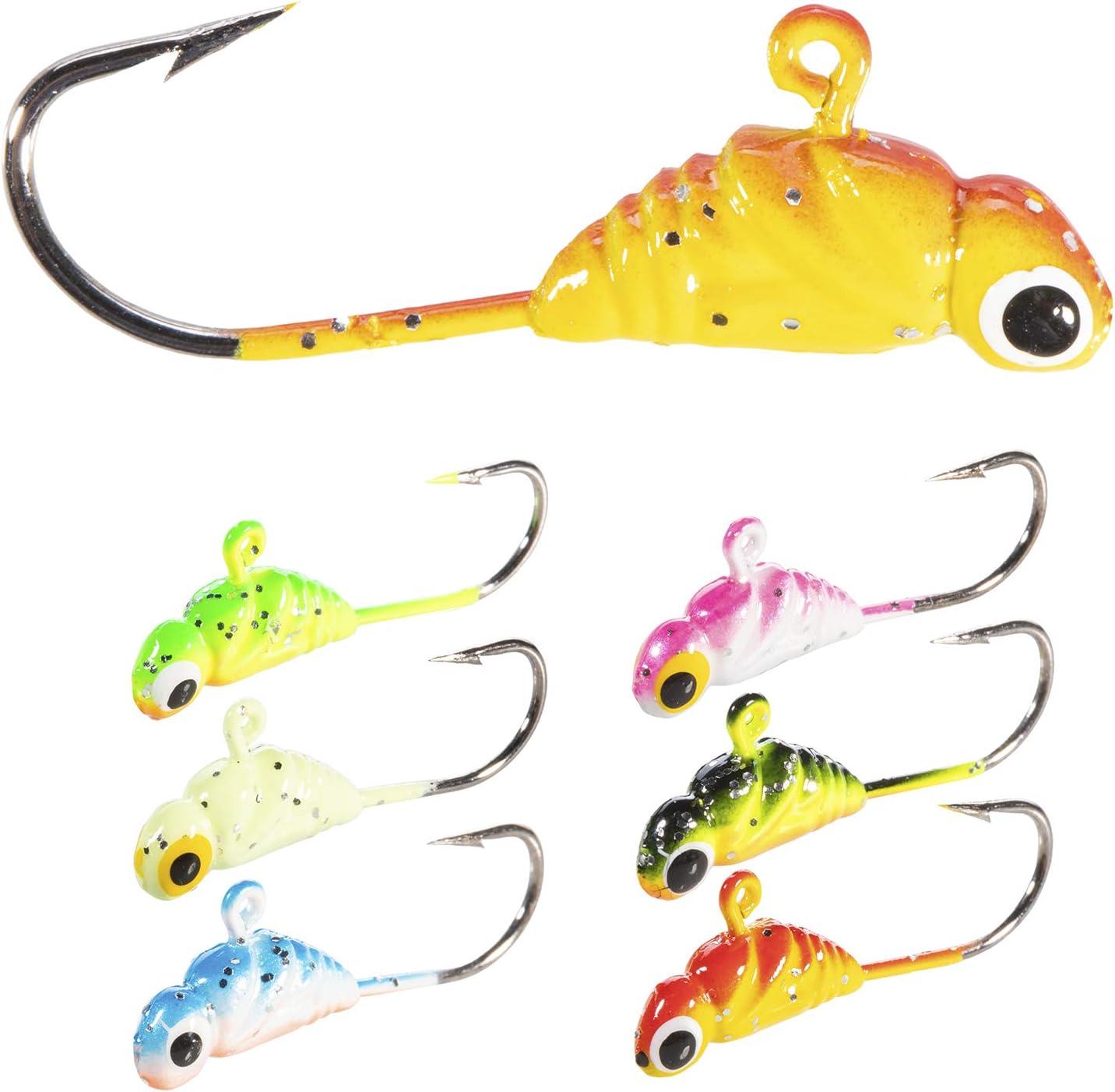 No//Brand Atreelure Ice Fishing Lures Glow Tackle Fishing Lead jig Heads Fishing Bait Hook Treble Hooks Winter Metal