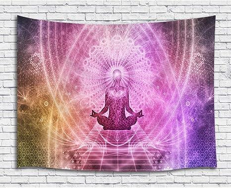 Amazon.com: Tapiz de yoga para colgar en la pared, diseño ...