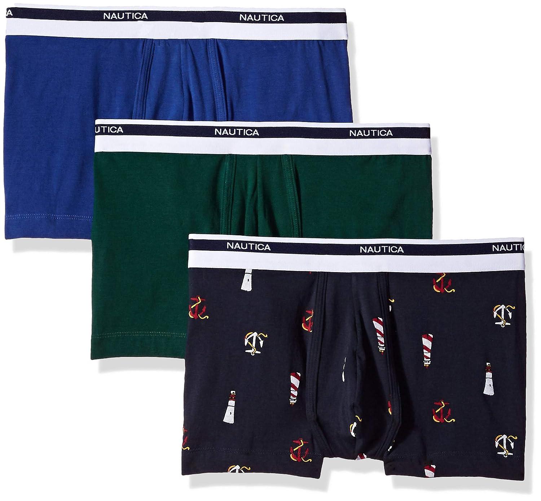 Nautica Mens Classic Underwear Cotton Stretch Trunk