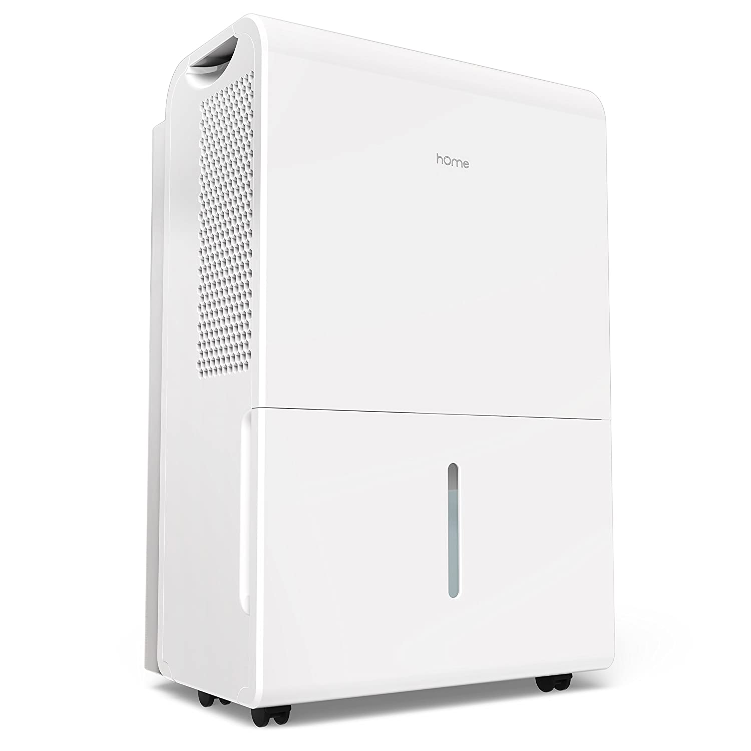 hOmeLabs 2500 Sq Ft Dehumidifier 50 Pint Energy Star Safe Mid Size Portable Dehumidifiers for Basements & Large Rooms with Fan Wheels and Drain Hose Outlet to Remove Odor & Allergens HME020006N