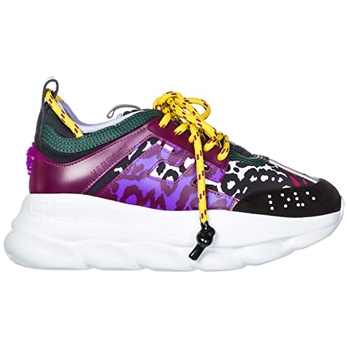 Versace Scarpe Sneakers Donna Nuove Originale Chain Reaction ...