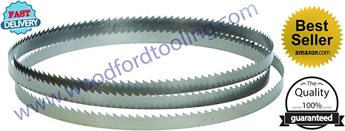 2 x 1400mm or 55 inch Bandsaw soft metal cutting Blades 1//4 inch 24 Tpi