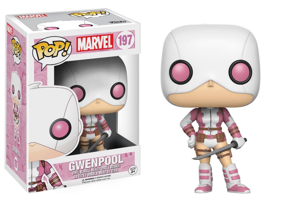 Funko Pop! Marvel - Gwenpool, Gwenspider vestida de Deadpool Rosa
