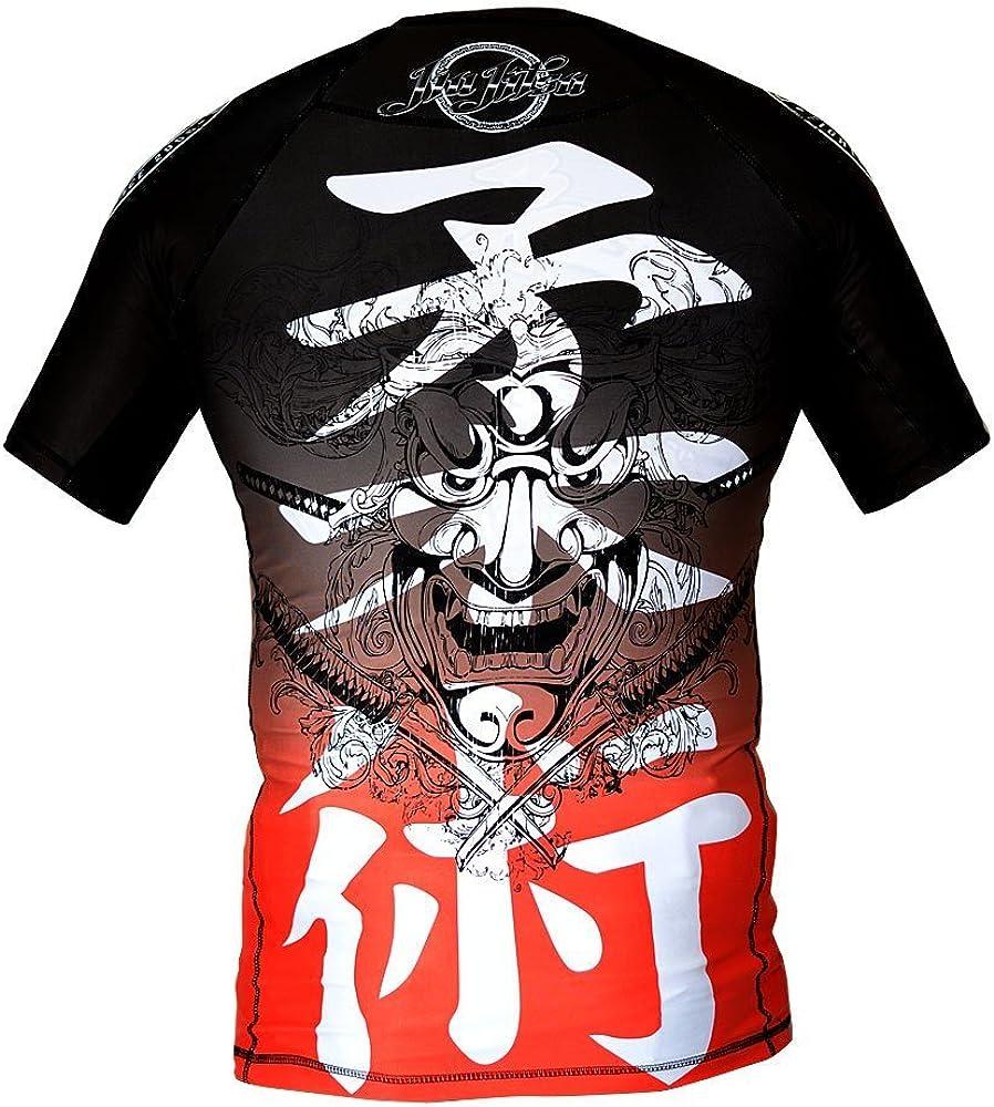 Dirty Ray Arts Martiaux MMA Jiu-Jitsu t-Shirt de Compression Rashguard Homme RG2