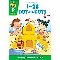 School Zone - Numbers 1-25 Dot-to-Dots Workbook - Ages 3 to 5, Preschool to Kindergarten...
