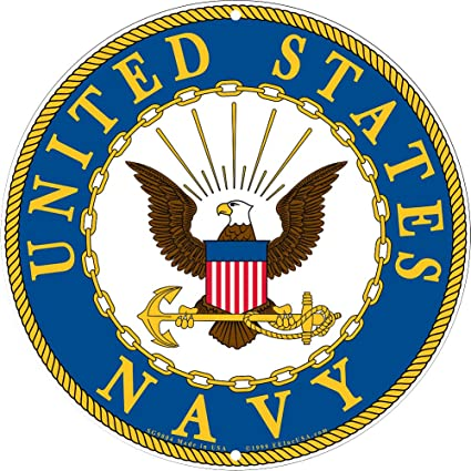 amazon com navy military logo aluminum sign us service branch rh amazon com military logo vector military logos and emblems