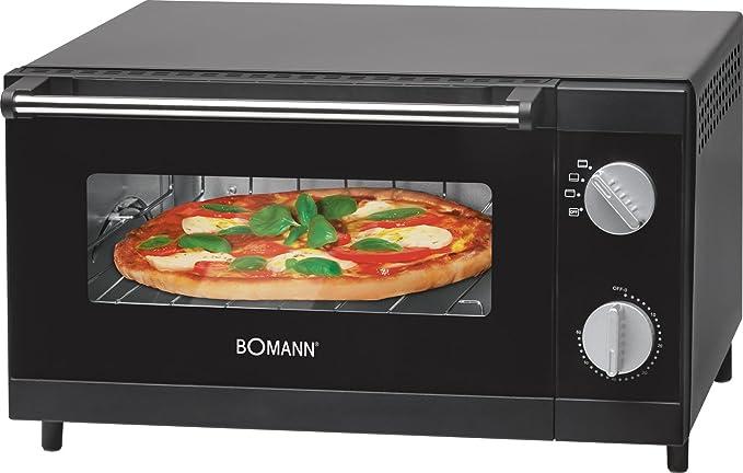 Opinión sobre Bomann MPO 2246 CB Horno sobremesa especial para pizza, 1000 W, 12 litros, Negro