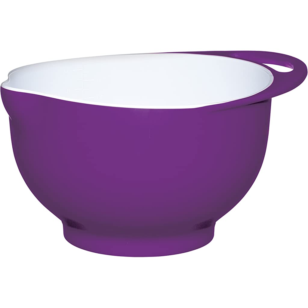 Colourworks Purple Melamine Mixing Bowl