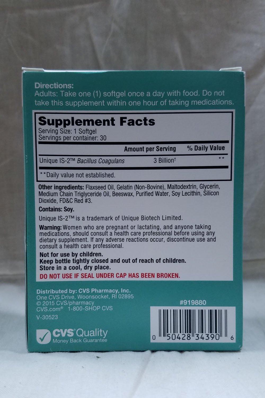 amazon com cvs softgel probiotic tablets 3 billion 30 softgels