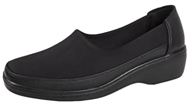 6cad9364ed4 Lora Dora Womens Memory Foam Stretch Work Shoes  Amazon.co.uk  Shoes ...
