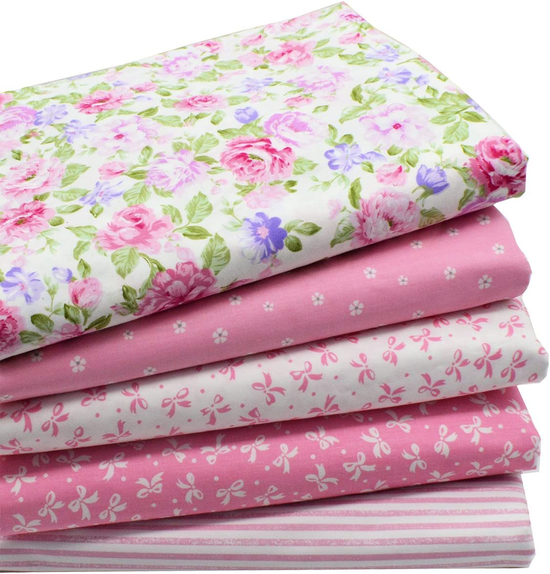 iNee Pink Fat Quarters Quilting Fabric Bundles