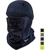 AstroAI Ski Mask Winter Balaclava Windproof Breathable Face Mask for Cold Weather (Superfine Polar Fleece, Navy Blue)
