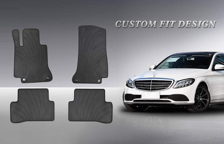 For Mercedes Benz C Class W205 Sedan Rear Beige All Season Floor Mats Genuine