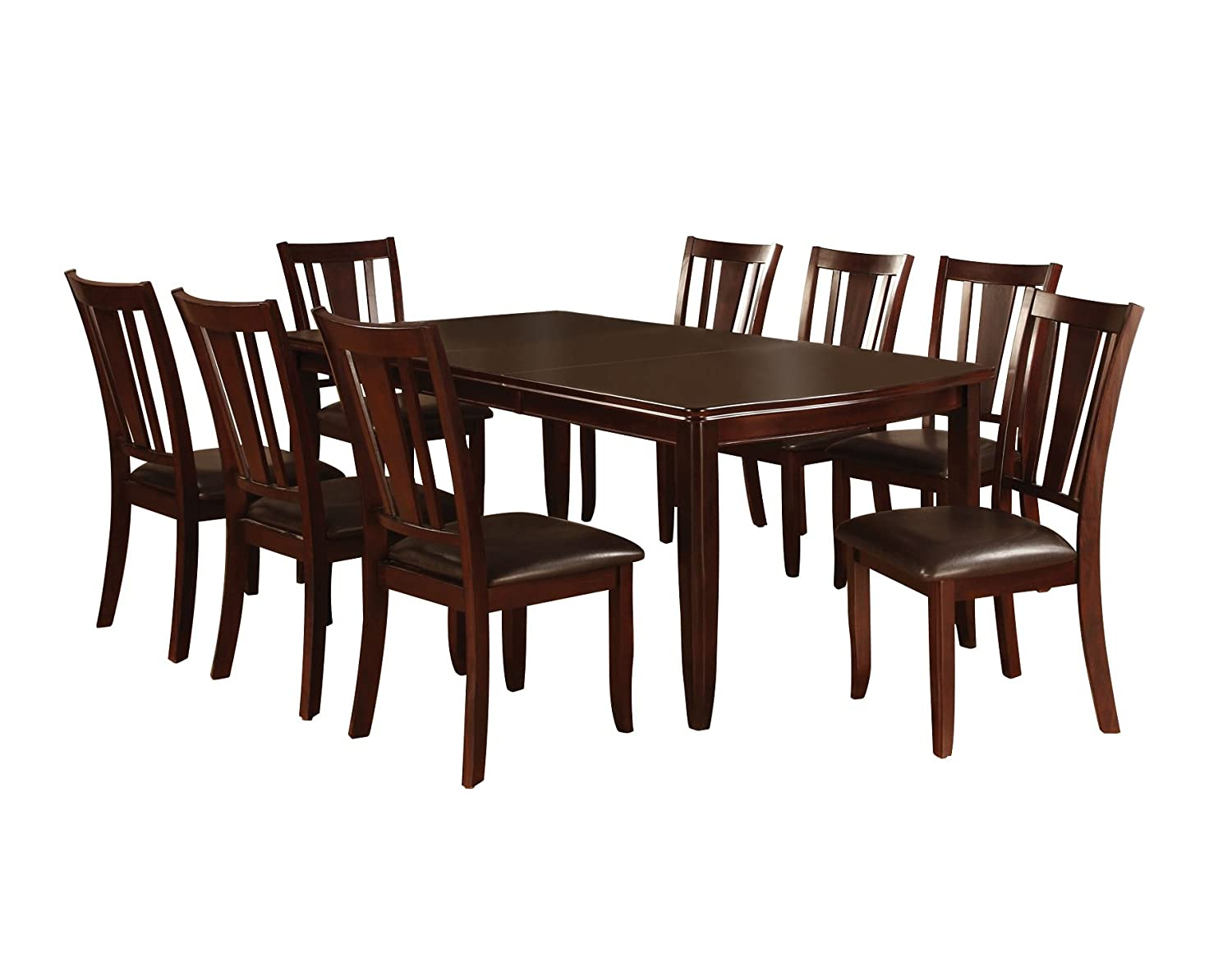 Amazoncom Furniture Of America Frederick 9 Piece Dining Table Set