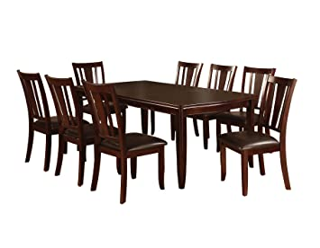 Furniture Of America Frederick 9 Piece Dining Table Set With 18 Inch  Expandable Leaf