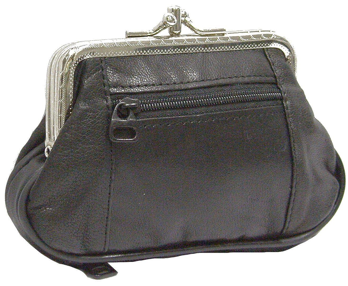 Leather Coin Purse Kiss Lock Framed Mini Wallet Credit Card Holder Case  Organizer (Black) at Amazon Women s Clothing store  7783da4cc8327