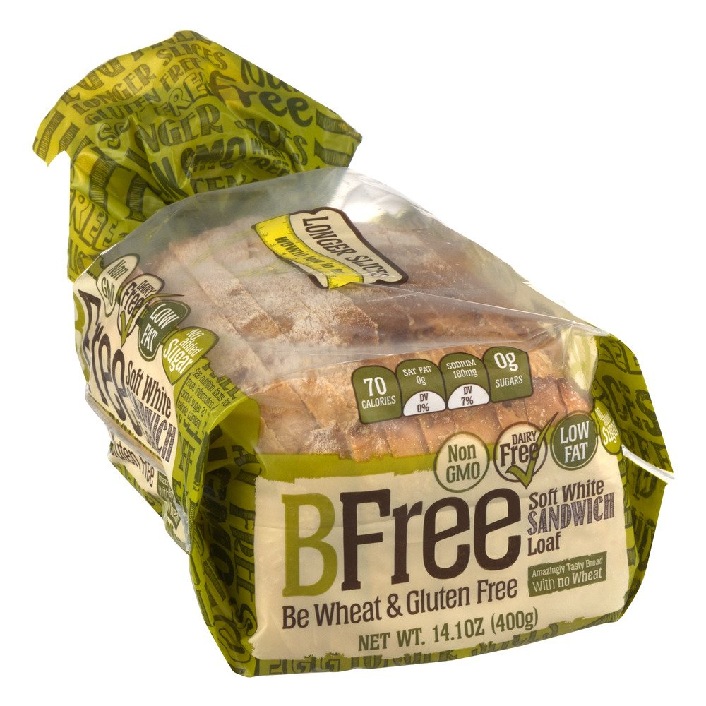 BFree Gluten Free Sandwich Bread, Soft White, 14.11 Ounce (Pack of 3) by Bfree