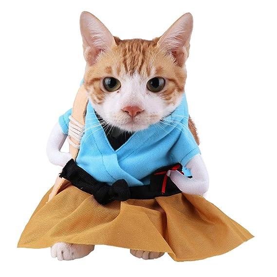 iiniim Divertido Disfraz de Samurai Japonés/Caballero Gato ...