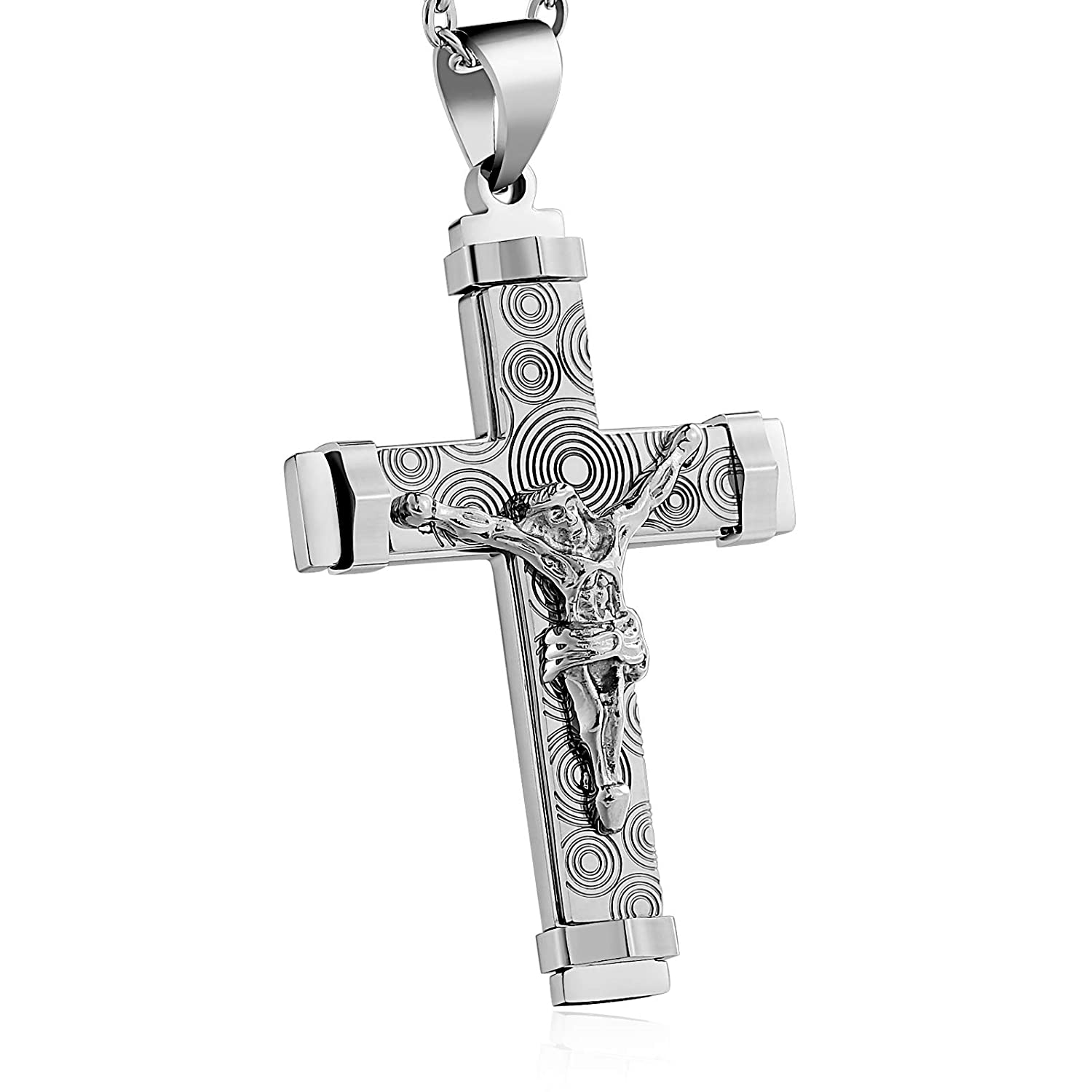MoAndy Stainless Steel Jewelry Necklace Chain Cross DN137