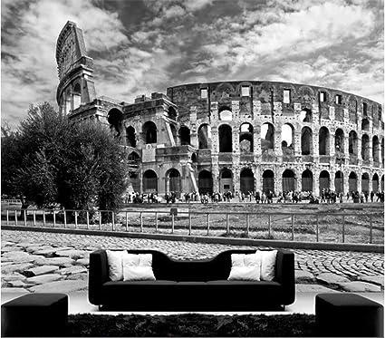 Carta Da Parati 3d Roma.Carta Da Parati Italia Roma Nero Bianco Grandi Murales 3d