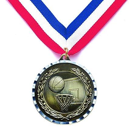 2, fundición a presión de baloncesto medalla acabado en latón ...