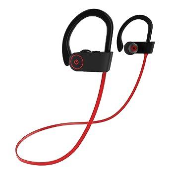 Insta moda Bluetooth auriculares, Sport inalámbrico auriculares con micrófono, HD estéreo Sweatproof auriculares Earhook