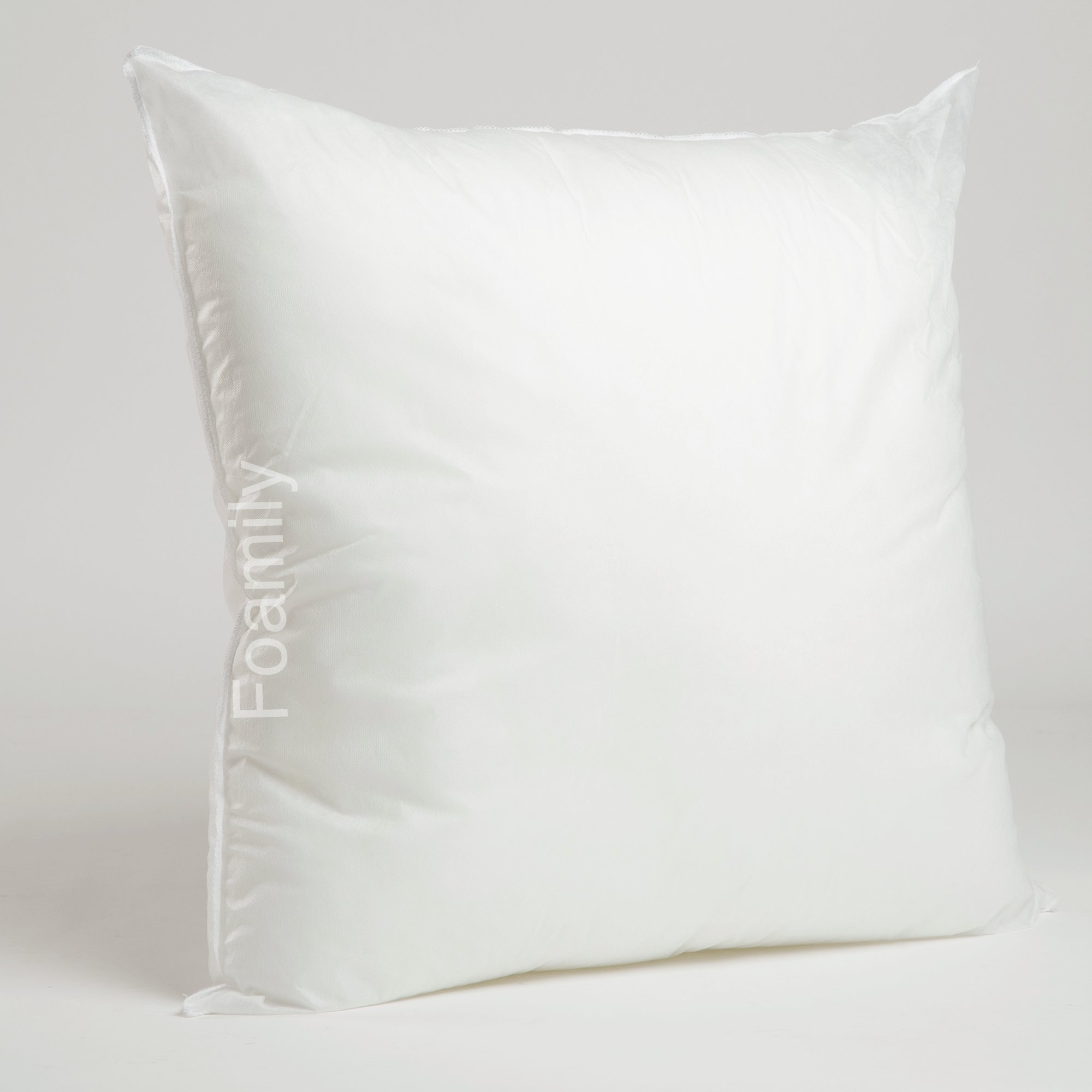 Foamily Premium Hypoallergenic Stuffer Pillow Insert Sham Square Form Polyester, 26'' L X 26'' W, Standard/White by Foamily
