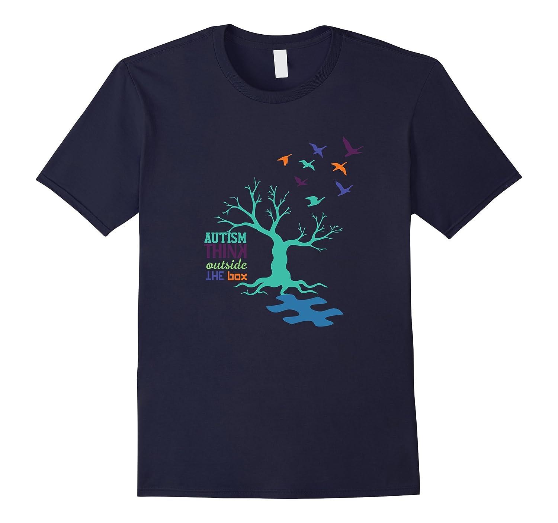 Autism Tree - Autism Awareness - Light it Up Blue Shirt-TH