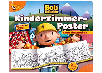 Bob Der Baumeister Kinderzimmer Poster Zum Ausmalen 6 Poster A 28 X