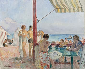 Amazon.com: The Museum Outlet - Cafe on the Beach, 1923-25 ...