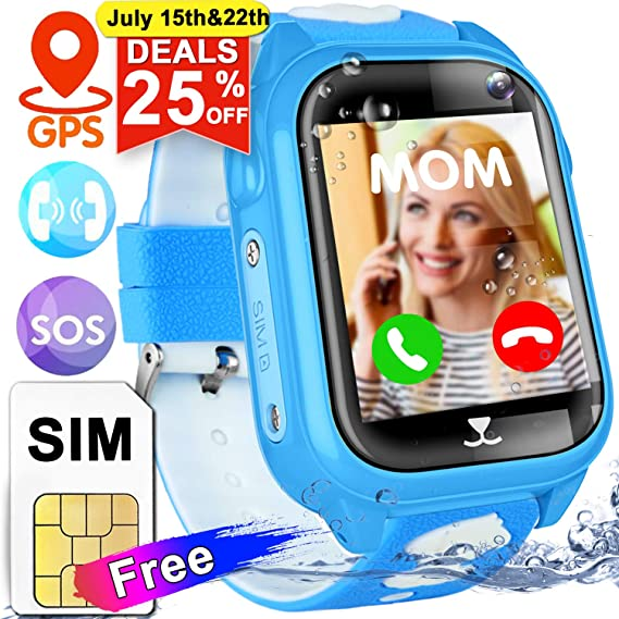 Amazon.com: Kids Smartwatch SIM Card Included, GPS Tracker ...