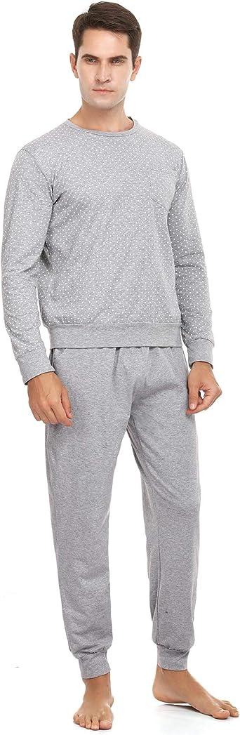 ARBLOVE Pijamas Hombre Invierno Manga Larga Pantalones Larga ...