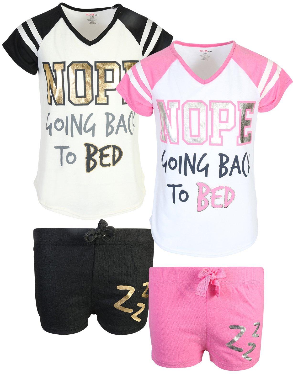 dELiA*s dELiAs Girl's Varisity Pajama Sleepwear Short Set, Going to Bed, Size 10/12' by dELiA*s