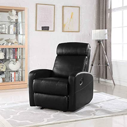 Astonishing Single Faux Leather Recliner Lounge Chair Modern Wide Armrest Lounger Chair High Comfortable Back Seats For Living Room Office Or Home Theater Spiritservingveterans Wood Chair Design Ideas Spiritservingveteransorg