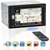BOSS Audio Systems BV9384NV GPS Navigation - Double Din, Bluetooth Audio and Calling, 6.2 Inch LCD Touchscreen, Built-in Microphone, MP3, CD, DVD, USB, SD, AM/FM Radio Receiver